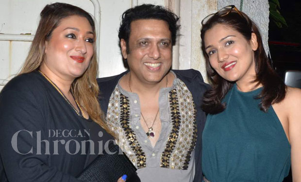 Govinda And Family Attend Daughter Tina S Debut Film Second Hand Husband Screening