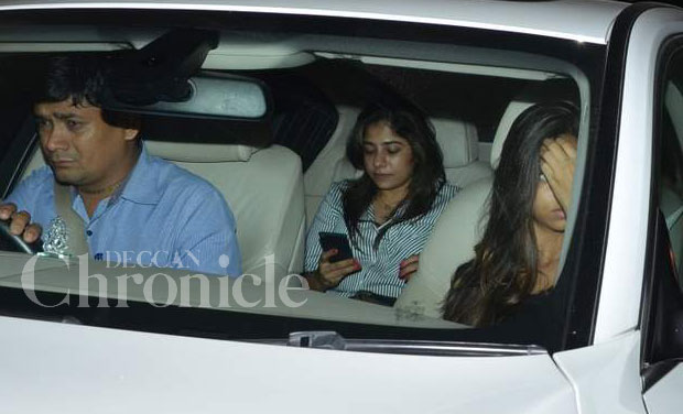 Shah Rukh Khan's daughter Suhana was seen arriving at the 'Brothers' special screening at a theatre in Mumbai on Wednesday. Photo: Viral Bhayani