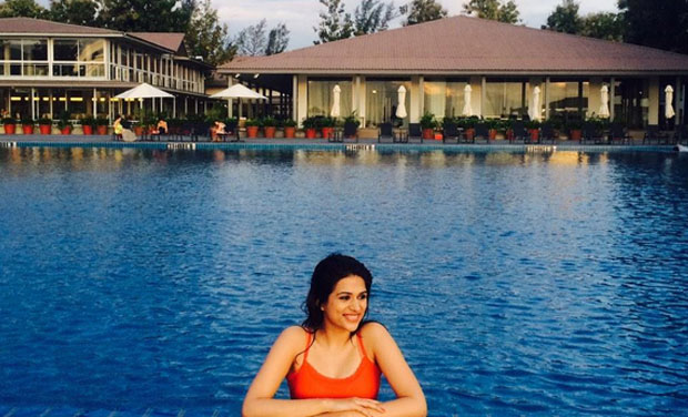 Shraddha Das shoots in Langkawi. (Pic Courtesy: Twitter)