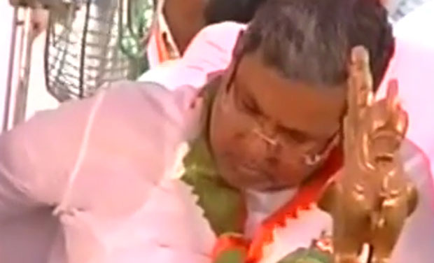 Screengrab from an archive video footage that showed him dozing off during a public event.
