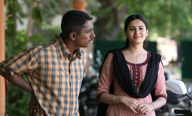 A still from 'Enakkul Oruvan' .