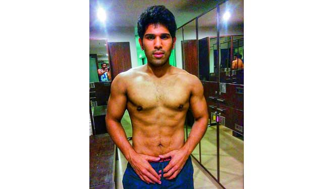 Now allu sirish sports a six pack allu sirish wanted to come up with a complete new look in his upcoming film altavistaventures Gallery