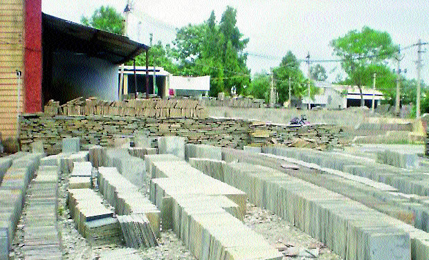 Stone slate obtained from mines in Markapuram. (Photo: DC)