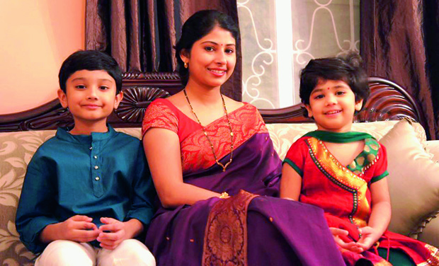 Smita with her children Nanak and Bhuvis (Photo: DC)