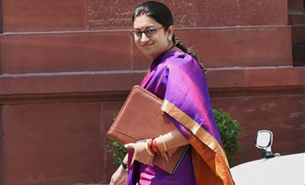 Smriti Irani arrives at PMO to attend the Cabinet Meeting. (Photo: PTI)