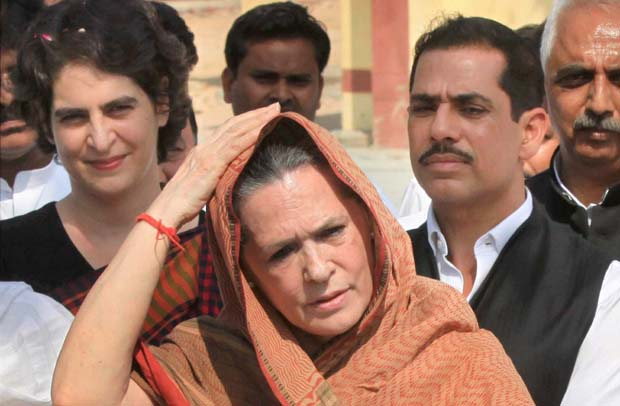 Image result for robert vadra and priyanka gandhi with sonia