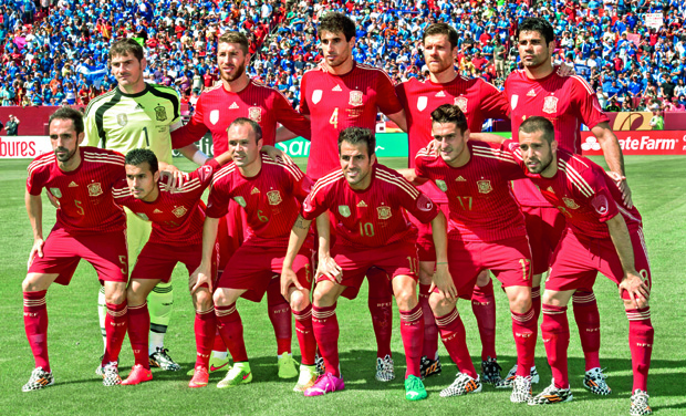 c73a39a54ee Members of Spain team ahead of their World cup friendly. Spain will meet  The Netherlands