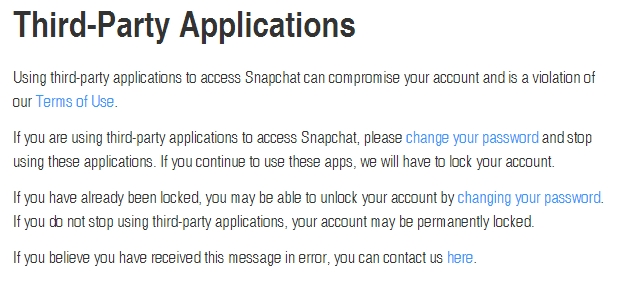 Snapchat warning to its users: Will disable accounts permanently