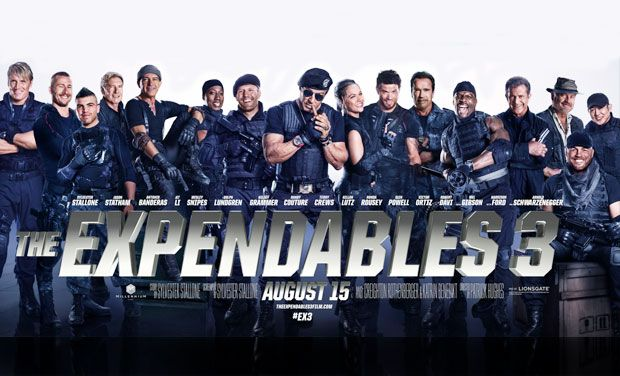 'The Expendables 3' official movie poster.