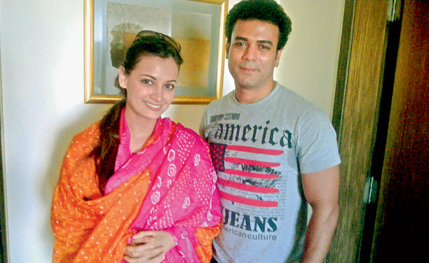 Aziz Naseer with Bollywood actress Dia Mirza. (Photo: DC)