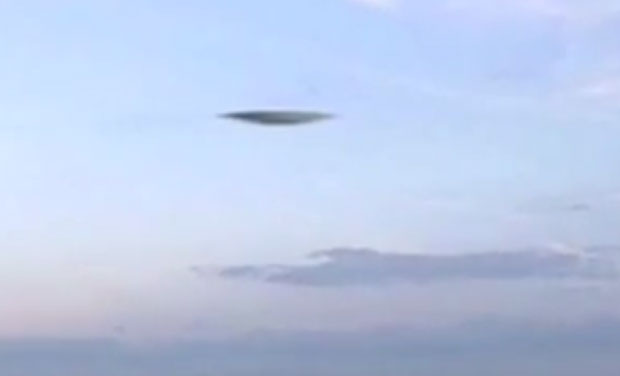 UFO spotted by civilians in Portsmouth in UK.  (Photo: Videograbs)