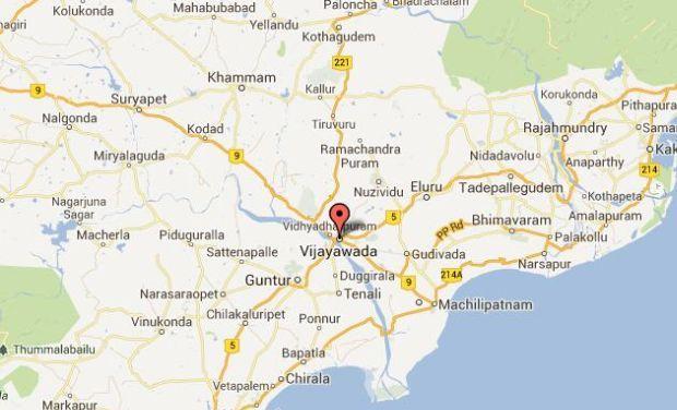 Andhra Pradesh new capital region (Photo Courtesy: Google Maps)