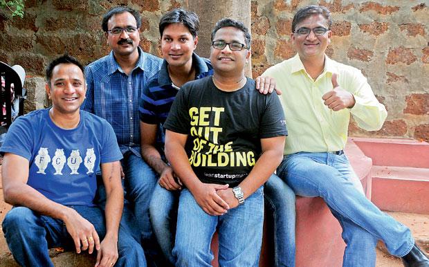 VICTORIOUS TEAM: Ravi Gollapudi, Srinivas Balusu, Satya Vegi, Dilip Chakravarthy and Koteshwar Rao. (Photo: DC)