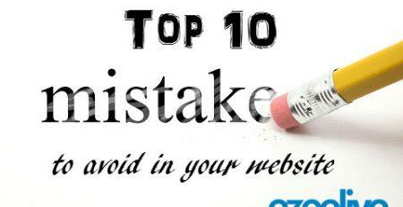 ezeelive technologies - top ten mistake to avoid in your website