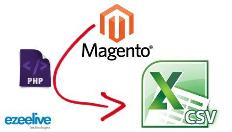 Ezeelive Technologies - Export Magento Database CSV Format Using Custom PHP Code