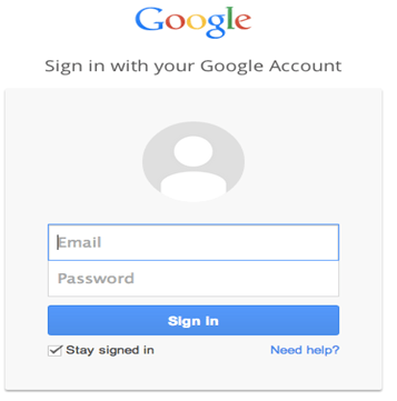 google sign in login page