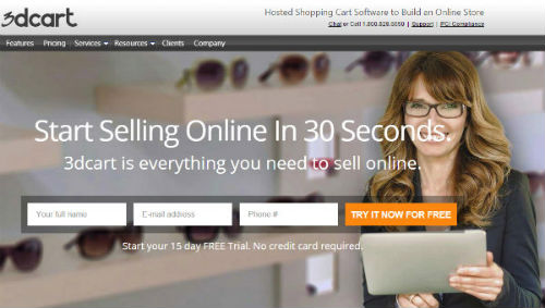 3dcart hosted ecommerce small business