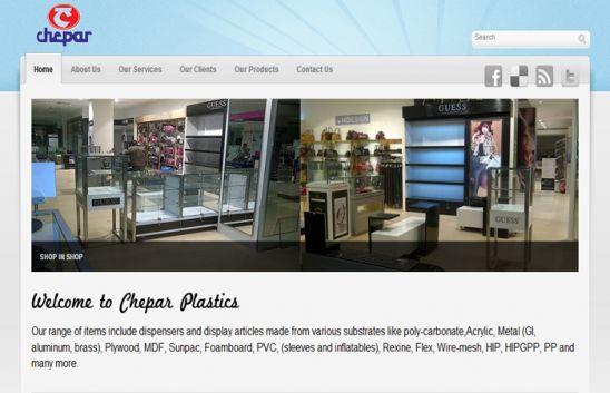 chepar plastics - web design miraroad