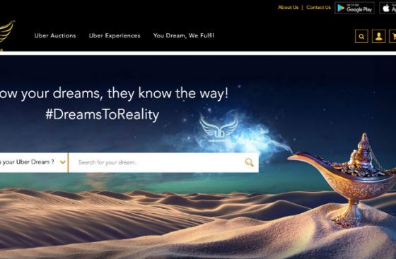 Uberdreams - realtime auction and curated experiences