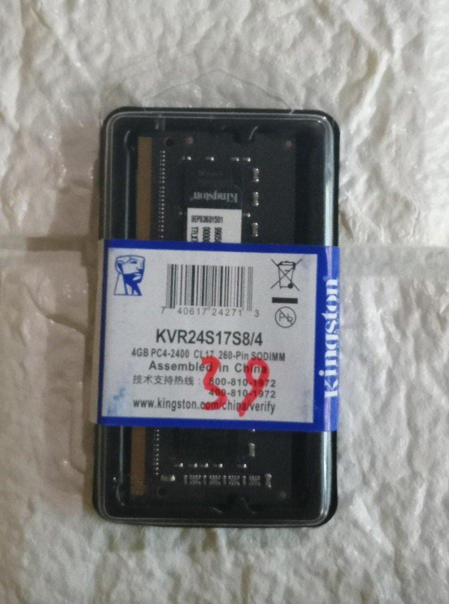 RAM LAPTOP KINGSTON DDR4 4GB 2400 MHz 19200 ORI GAMING RAM NB DDR4 4GB