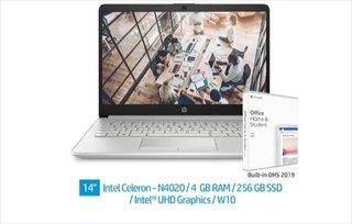 Laptop HP 14S-CF2019TU Intel Celeron N4020 RAM 4GB SSD 256GB Win 10