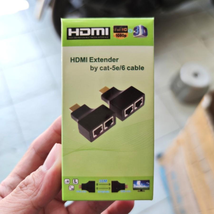 HDMI EXTENDER 30M / 30 METER OVER DUAL KABEL LAN RJ45