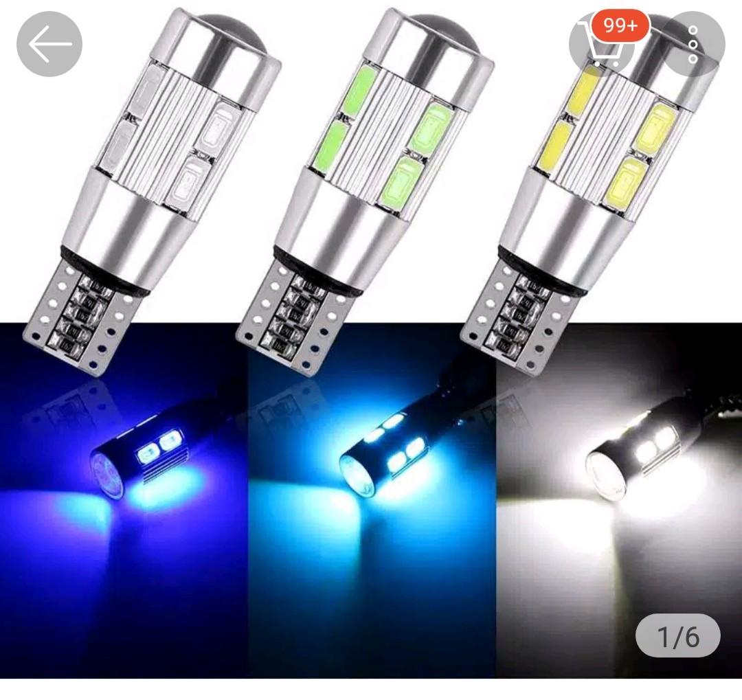 Lampu LED Mobil Motor Senja T10 Canbus 5630 5670 10 Mata SMD Proyektor