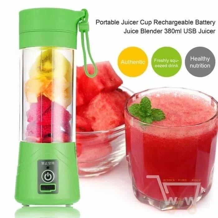 Blender Juice mini USB Shake and Go Blender Portable Recharge 4 pisau