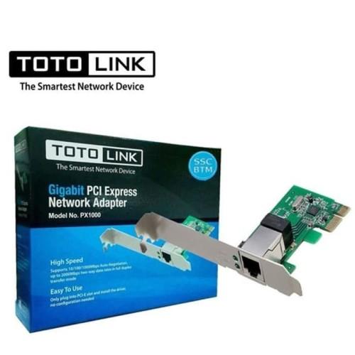 PCI Lancard Gigabit Totolink PX1000 PCI Express Lan Card Gigabit Port