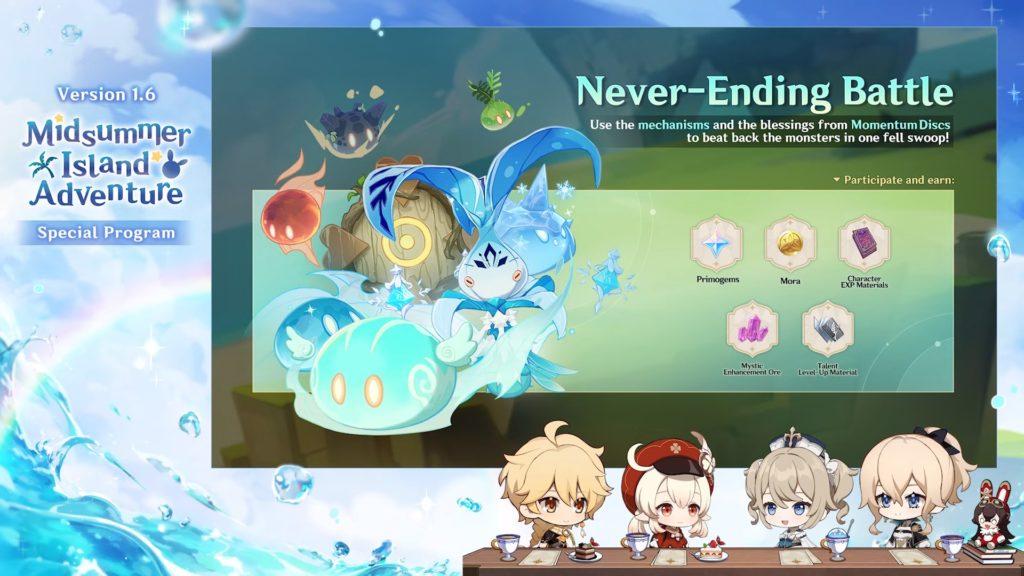 Genshin Impact 1.6 Never-Ending Battle