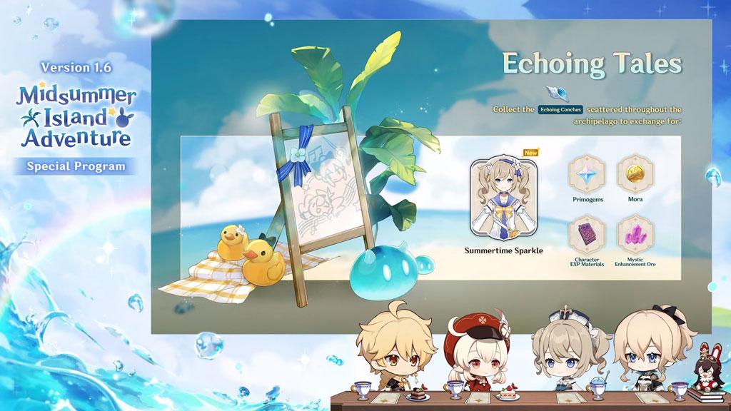 Genshin Impact 1.6 Echoing Tales