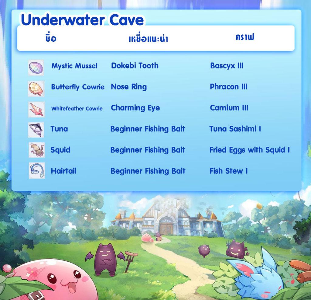 Ragnarok X ตกปลา Underwater Cave