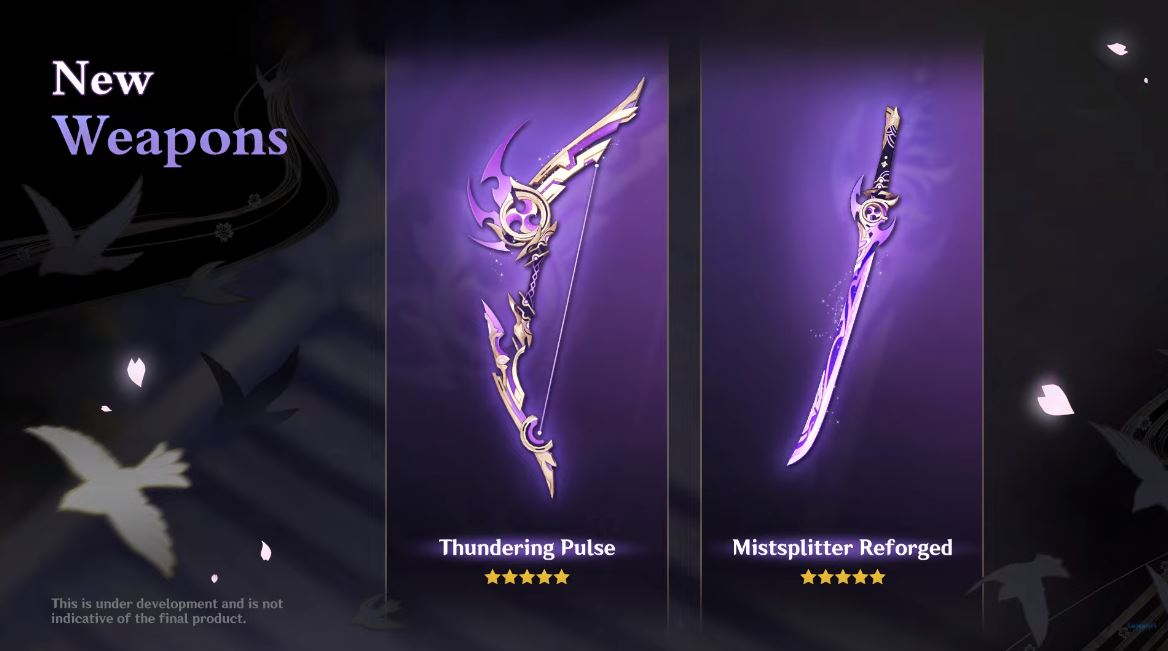 genshin impact 2.0 New weapons 01