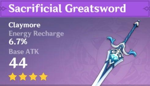 Genshin Impact - Sacrificial Greatsword