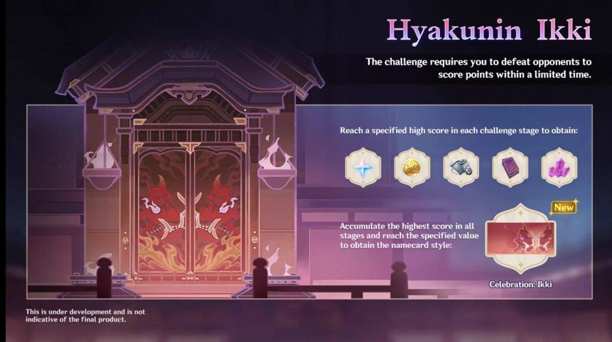 Genshin Impact 2.1 - Hyakunin Ikki