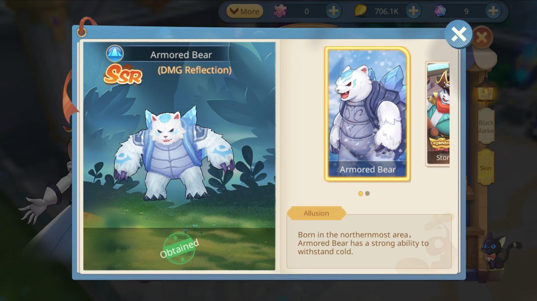 Cloud Song แนะนำสัตว์เลี้ยง Armored Bear