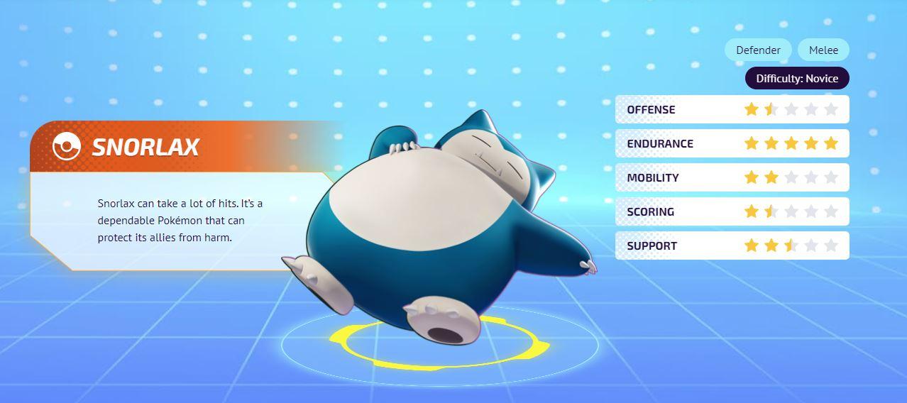 Pokemon Unite Snorlax