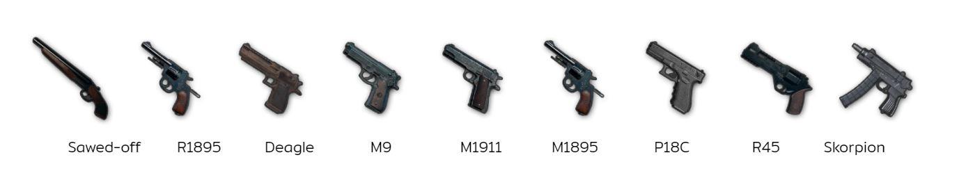 PUBG Mobile วิธีเลือกปืน Pistols
