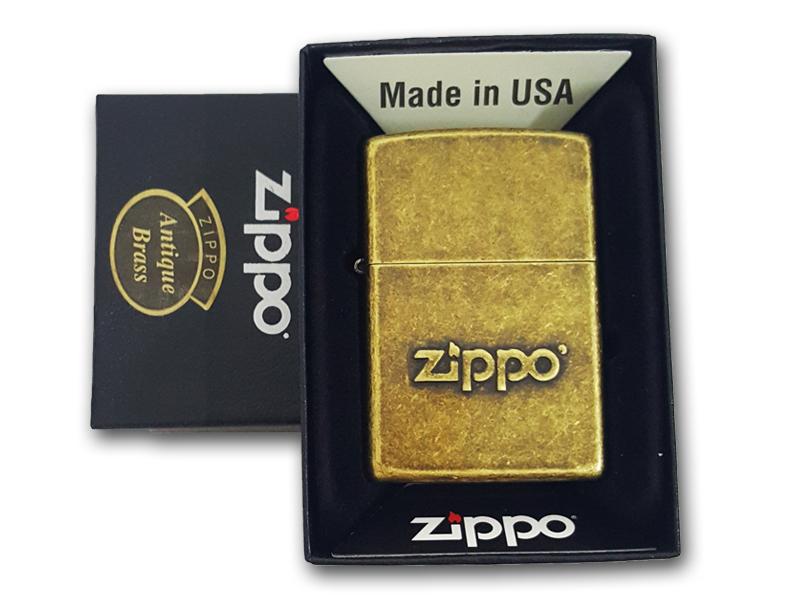 Antique Brass Logo Zippo Gold (257201)-1.jpg