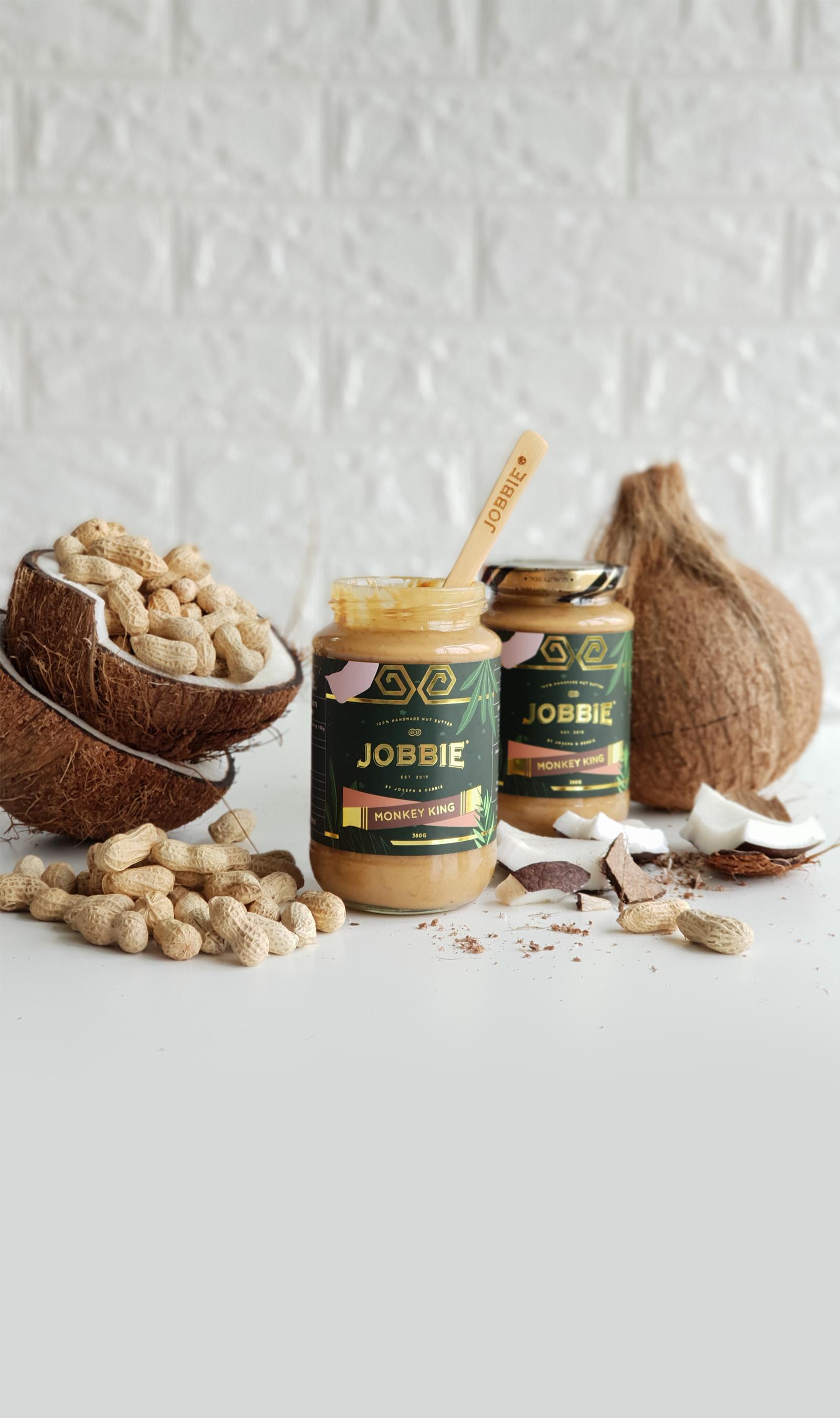 JOBBIE NUT BUTTER - Get natural peanut butter delivered to your doorstep | Monkey King Crispy Coconut PB