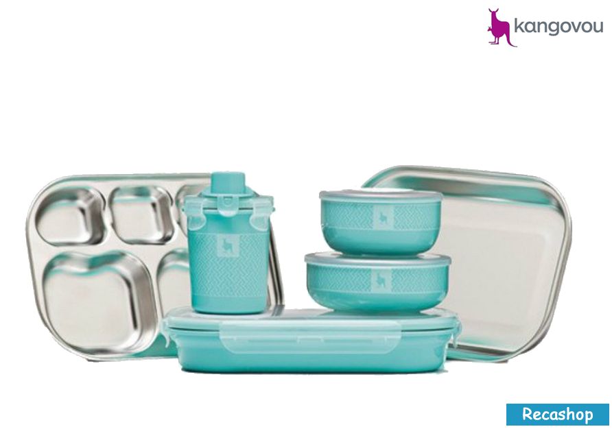 Kangovou Kids Dishware Set (Iced Mint).fw.png