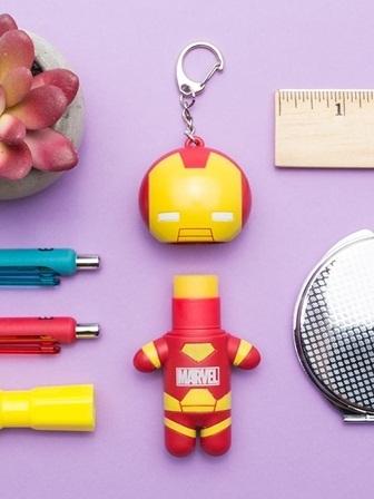 Lip Smacker Marvel Super Hero Lip Balm with Keychain - iron man billionair punch.jpg