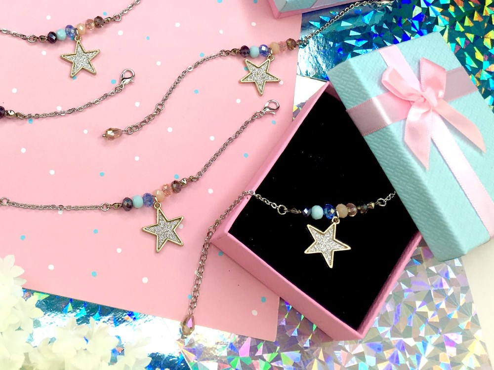 Friends Are Like Stars Custom Friendship Bracelets for Fatin Glittering Star Charm.jpg
