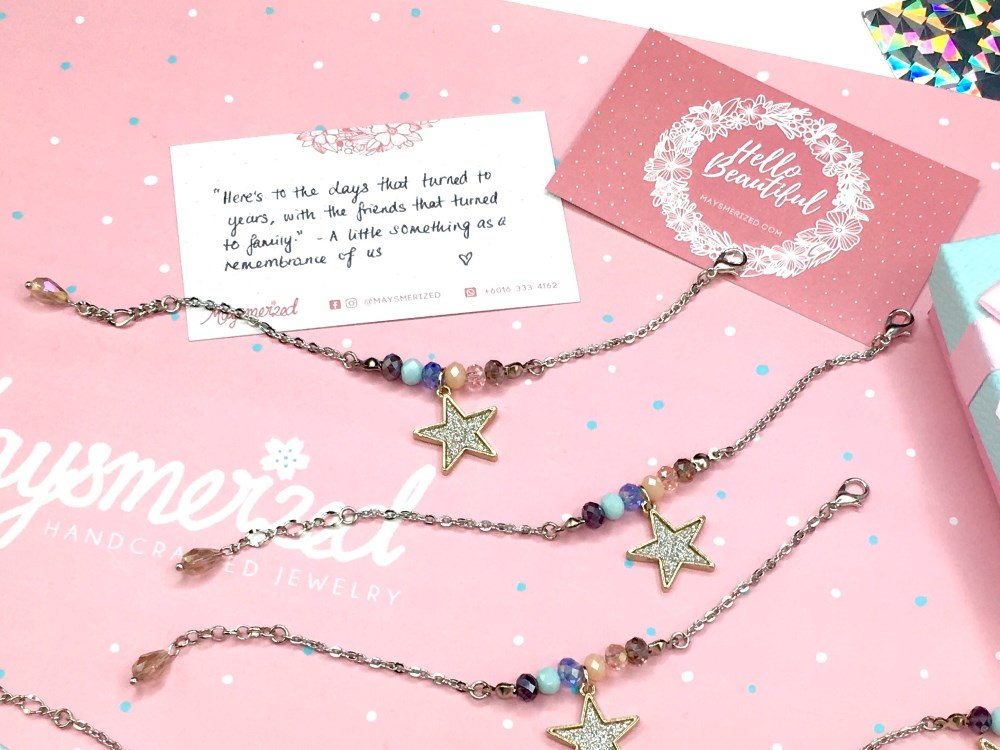 Friends Are Like Stars Custom Friendship Bracelets for Fatin Dedication Card.jpg