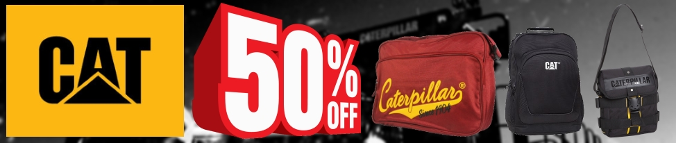 50% Off Caterpillar Bags and Luggage