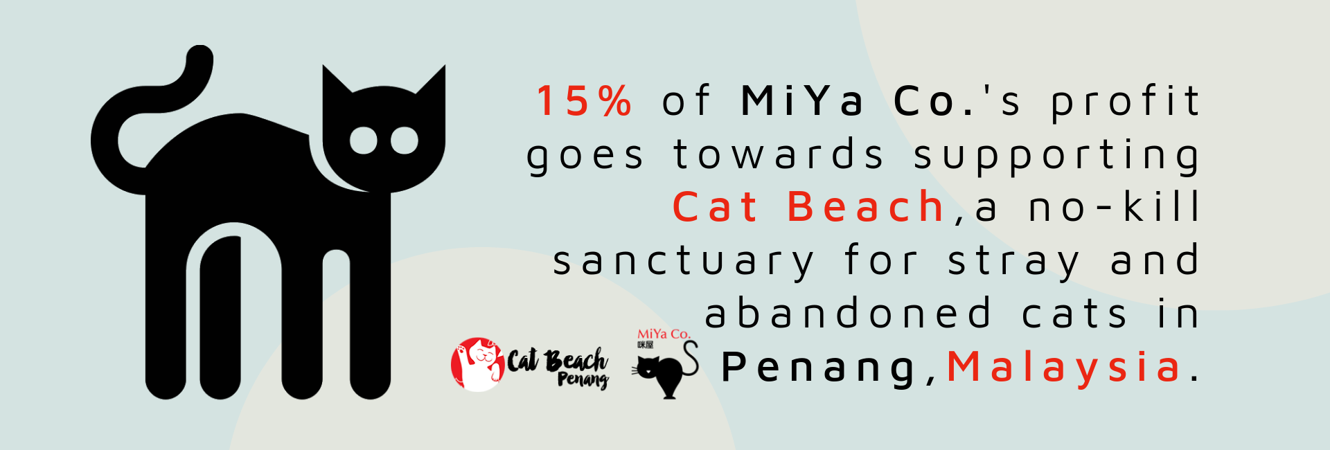 MiYa Co. Gift Shop for cat lovers. A social enterprise that supports cat shelters and rescuers in Malaysia.
