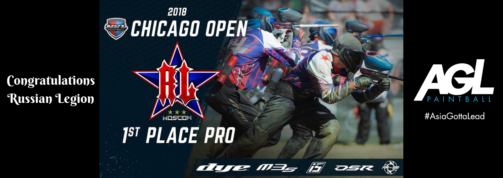 dye teams 1 2 finish at nxl chicago 2018 agl paintball
