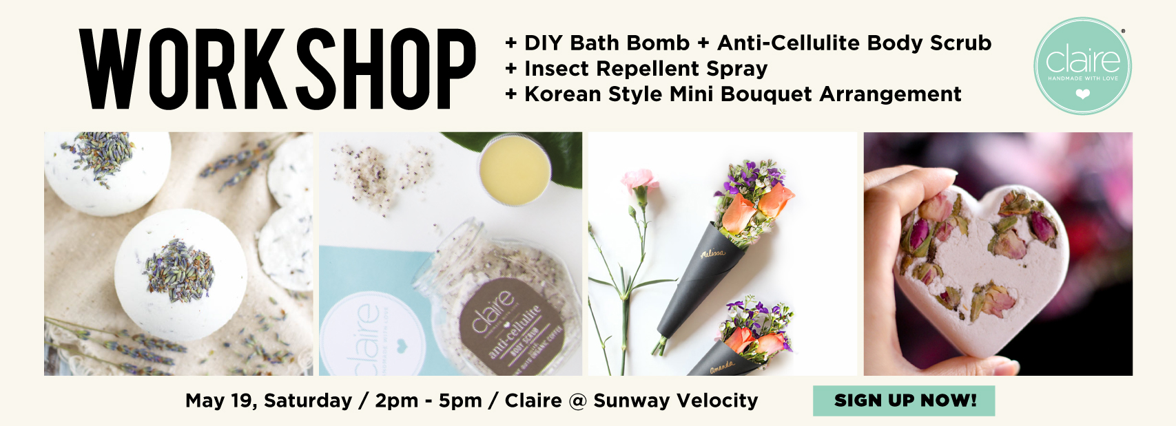 Claire Organics Mother's Day Special DIY Skincare Workshop