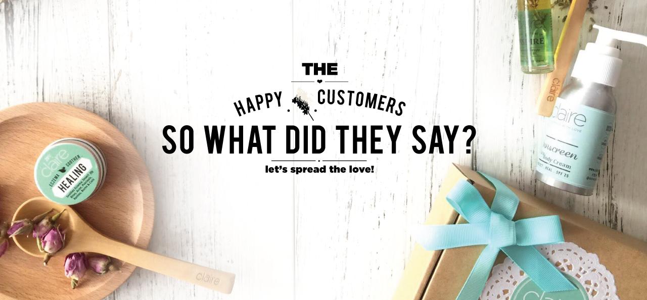 Claire Organics : Happy Customers