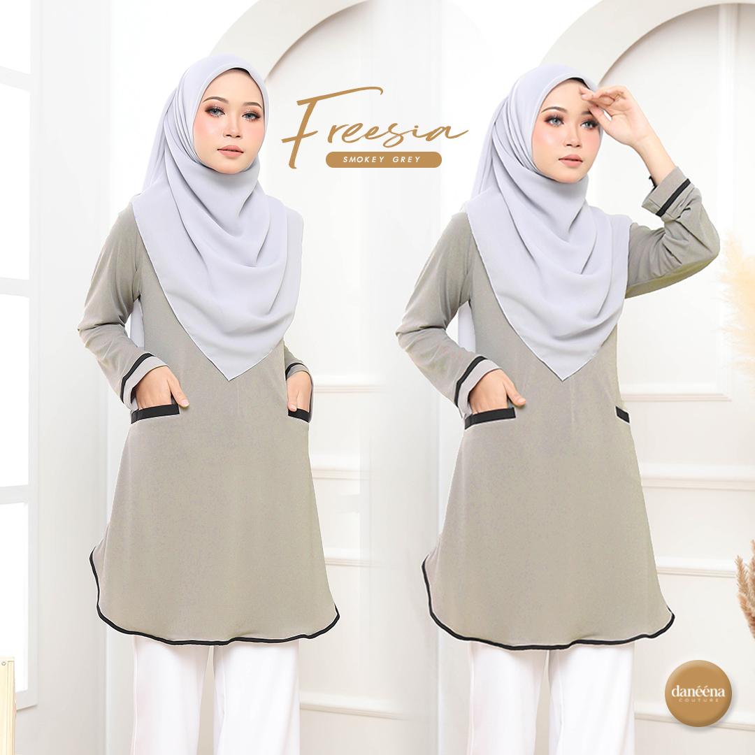 blouse tak payah gosok ironless labuh sopan long muslimah tunic.jpg